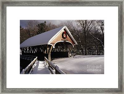 Flume Covered Bridge - Lincoln New Hampshire Usa Framed Print by Erin Paul Donovan