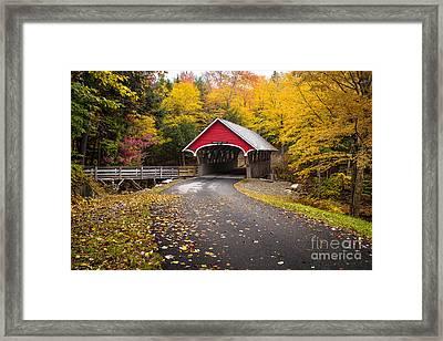Flume Covered Bridge Framed Print by Benjamin Williamson