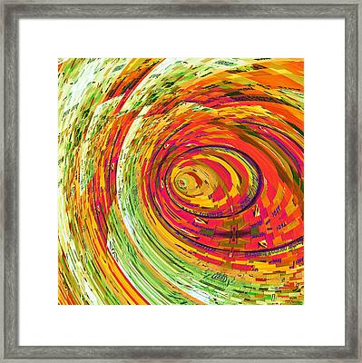Fluorescent Wormhole Framed Print by Shawna Rowe