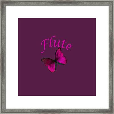 Flute Photograph For T-shirt 5545.02 Framed Print