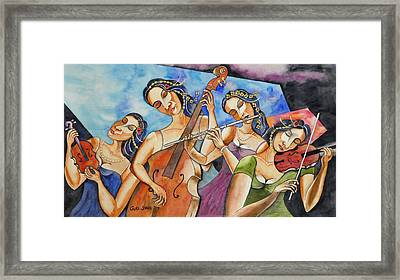 Flute Quartet Framed Print