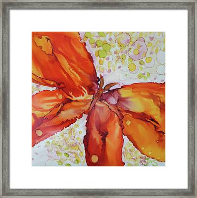 Framed Print featuring the painting Flutter by Joanne Smoley