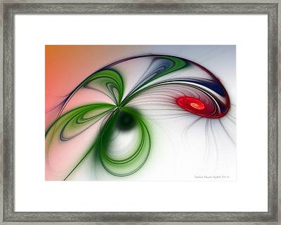 Flutter Framed Print by Sandra Bauser Digital Art