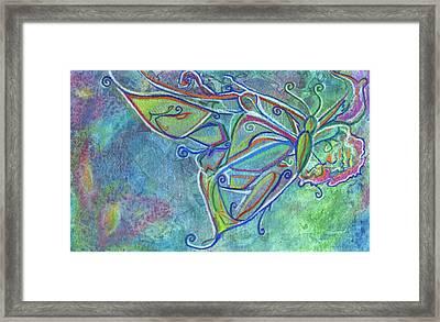 Flutterby Framed Print