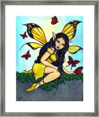 Fluttering Visitors Framed Print