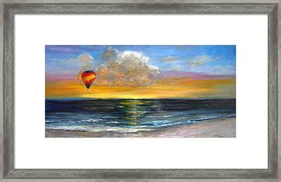 Fly Away Framed Print by Jeannette Ulrich
