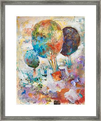 Fly Away To Creativity Framed Print