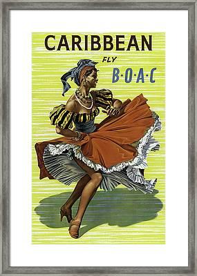 Fly B O A C To Caribbean Framed Print by Daniel Hagerman