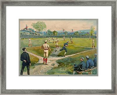 Fly Ball 1887 Framed Print