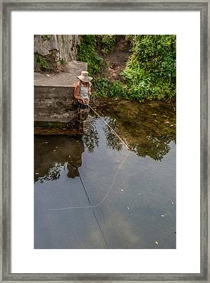 Fly Fisher Gal Framed Print