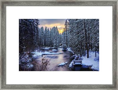 Fly Fisherman On The Metolius Framed Print