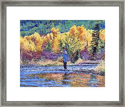 Fly Fishing Framed Print by David Lloyd Glover