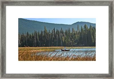 Fly Fishing Hosmer Lake Larry Darnell Framed Print by Larry Darnell