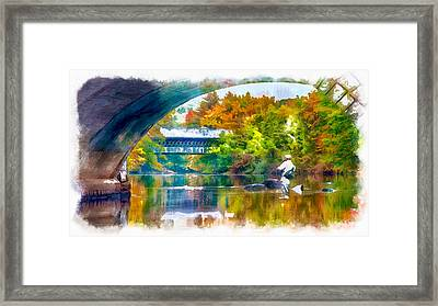 Fly Fishing In New England Framed Print