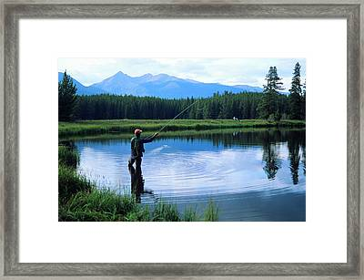 Fly Fishing In Rocky Mountain National Park Framed Print