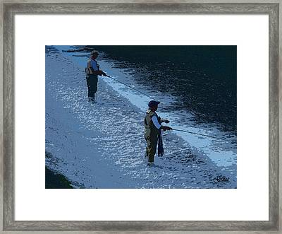Fly Fishing Framed Print by Julie Grace