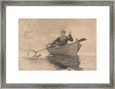 Fly Fishing, Saranac Lake, 1889 Framed Print