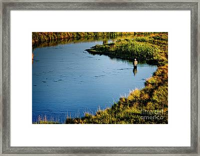 Framed Print featuring the photograph Fly Fishing  by Scott Kemper