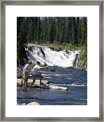 Fly Fishing The Lewis River Framed Print by Marty Koch