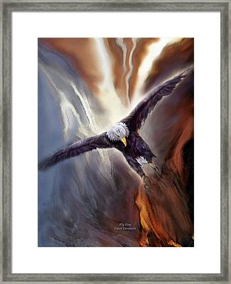 Fly Free Framed Print by Carol Cavalaris