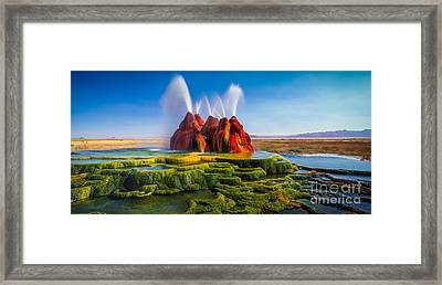 Fly Geyser Panorama Framed Print by Inge Johnsson