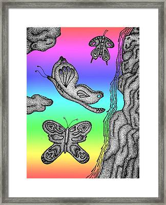 Fly High Butterfly Framed Print