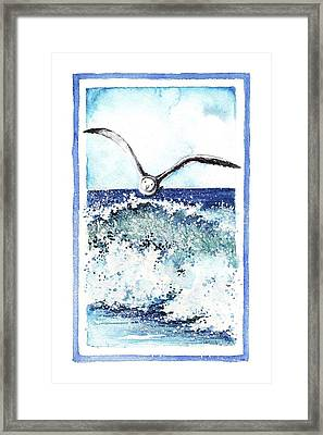 Framed Print featuring the painting Fly High by Heidi Kriel