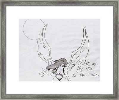 Fly Me To Moon Framed Print
