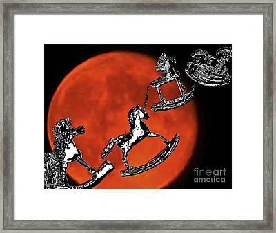 Fly Me To The Moon Framed Print by Carol F Austin