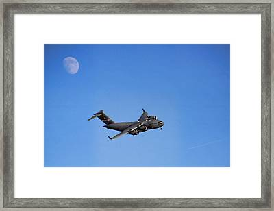 Framed Print featuring the photograph Fly Me To The Moon by Tammy Espino