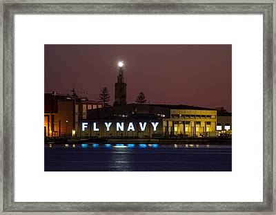 Fly Navy Framed Print