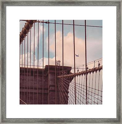 Fly Over Brooklyn  Framed Print