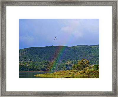 Fly Over The Rainbow Framed Print