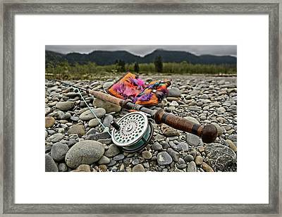 Fly Rod And Streamers Landscape Framed Print