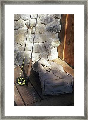 Fly Rod And Vest Framed Print