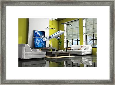 Fly The Friendly Skies Art Framed Print by Marvin Blaine