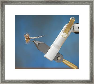 Fly Tying Framed Print by Jerry McElroy