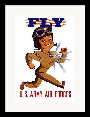 Fly Mixed Media Framed Prints