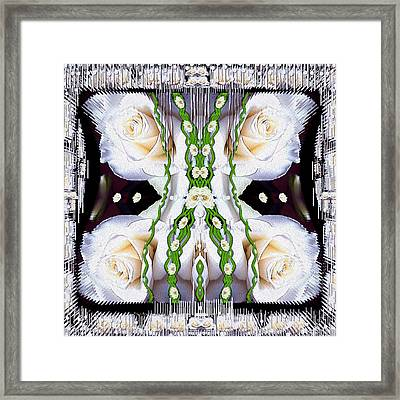 Fly With Roses And Wings Into Freedom Framed Print by Pepita Selles