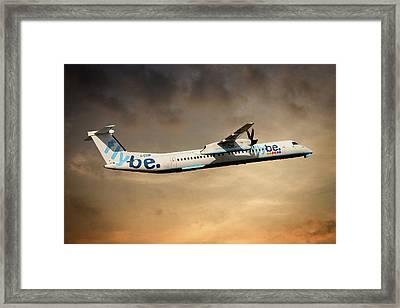 Flybe Bombardier Dash 8 Q400 Framed Print