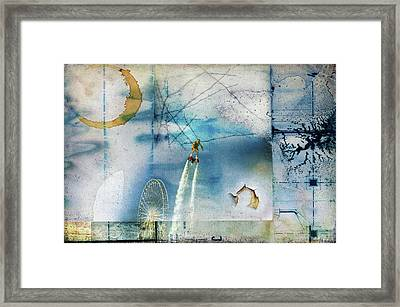 Flyboard - Freestyle Framed Print