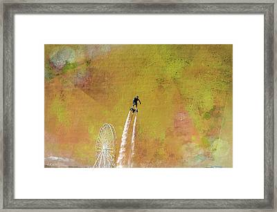Flyboard, Sketchy And Painterly Framed Print