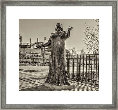 Flyer Good Luck Charm - Kate Smith In Sepia Framed Print