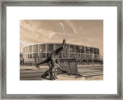 Flyers Hockey - Philadelphia Spectrum Framed Print by Bill Cannon
