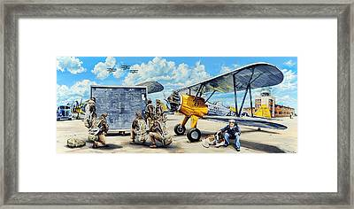Flyers In The Heartland Framed Print by Charles Taylor
