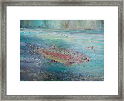 Flyfishing Framed Print