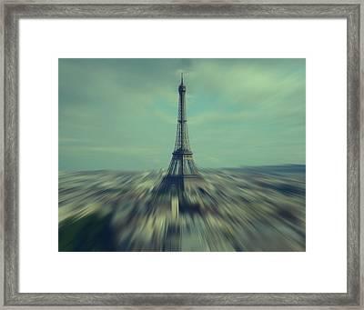 Flying Above Paris Framed Print