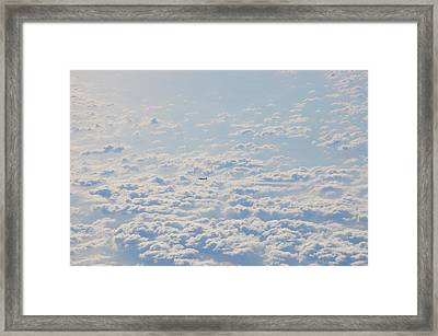 Framed Print featuring the photograph Flying Among The Clouds by Bill Cannon