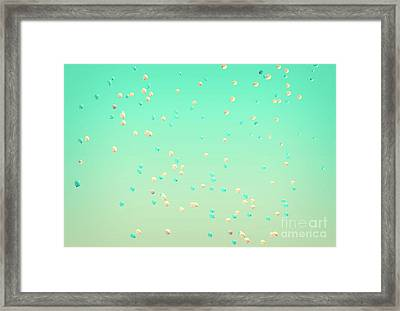 Flying Balloons Framed Print by Delphimages Photo Creations