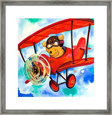 Flying Bear Framed Print